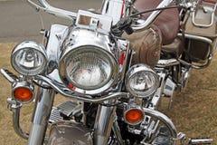 De delen van het Harley davidson chroom Stock Afbeeldingen