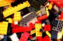 De de delenontwerper van het textuurkind bouwt verschillend speelgoed stock afbeelding