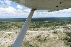 De Delta van Okavango die van een vliegtuig wordt bekeken Royalty-vrije Stock Foto's