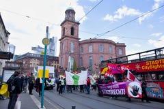 De demonstratie in Lissabon Royalty-vrije Stock Fotografie