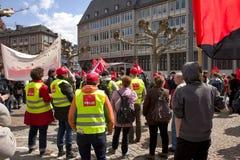 De demonstratie in Lissabon Royalty-vrije Stock Foto's