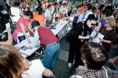 De demonstratie tegen perreras Milaan kan 8 2011 Stock Foto's