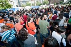 De demonstratie tegen perreras Milaan kan 8 2011 Stock Afbeelding