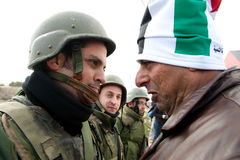 De Demonstratie van de anti-Muur van Cisjordanië Royalty-vrije Stock Foto
