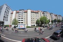 De demonstratie van de de fietsparade van de leraar in Berlijn Royalty-vrije Stock Afbeeldingen
