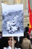 De demonstratie van de de volkerenmoordverjaardag van Armenië in Wenen Stock Foto's