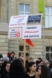 De demonstratie van de de volkerenmoordverjaardag van Armenië in Wenen Stock Afbeelding