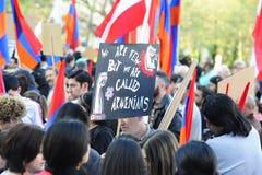 De demonstratie van de de volkerenmoordverjaardag van Armenië in Wenen Stock Fotografie