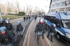 De demonstratie van de student in Milaan 14 december, 2010 Stock Afbeelding