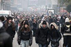 De demonstratie van de student in Milaan 14 December, 2010 Royalty-vrije Stock Foto's