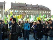 De Demonstratie van de Verandering van het Klimaat van de V.N. stock foto's