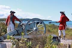 De Demonstratie van het kanon Stock Foto