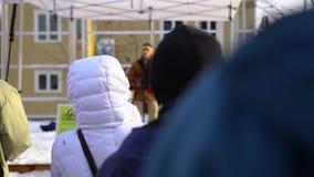 De demonstratie van het milieudeskundigenstadium stock video