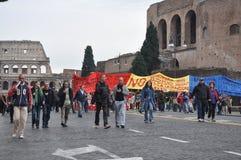 De demonstratie van het racisme op de straten van Rome Royalty-vrije Stock Foto