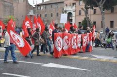 De demonstratie van het racisme op de straten van Rome Stock Fotografie
