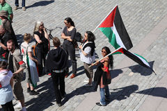 De demonstratie van Palestina Stock Afbeeldingen