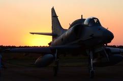 De demonstratie van A4skyhawk bij Braziliaanse Luchtmachtacademie stock foto's