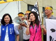 De demonstratiesystemen protesteren een Controversiële Nieuwe Weg Royalty-vrije Stock Foto's