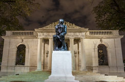 De Denker in Rodin Museum Royalty-vrije Stock Fotografie