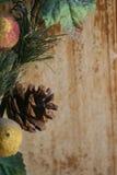 De Denneappel van Kerstmis Stock Afbeelding