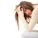 De depressie van de tiener - verloren liefde Stock Foto