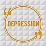 De Depressie van de handschrifttekst Concept die Gevoel van strenge wanhoop en dejectiestemmingswanorde betekenen vector illustratie