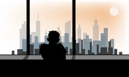 De depressieve verstoorde wanorde, of voelt eenzaam royalty-vrije illustratie