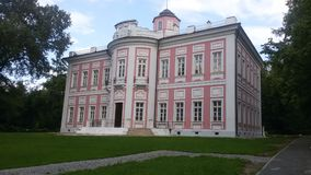 De derde mening van het hoofdgebouw van het vroegere landgoed van Prins Golitsyn Vyazemy Stock Foto