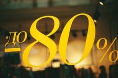 80 de descuento de la venta foto de archivo libre de regalías
