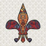 de-designfleur lis stock illustrationer