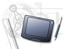 De Desktop van de ontwerper Stock Foto