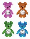 De Desktopklok van de teddybeer Stock Afbeelding