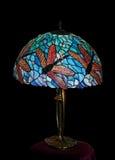 De Desktoplamp van het gebrandschilderd glas stock fotografie