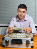 De deskundige van het geld Royalty-vrije Stock Foto