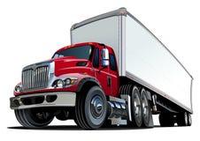 De dessin animé camion semi Photographie stock libre de droits