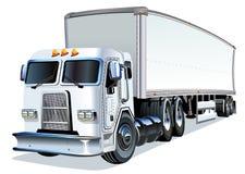 De dessin animé camion semi Image stock