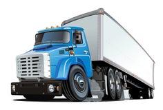 De dessin animé camion semi Photo stock