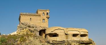 De dessous le fort à Tarifa Photo stock