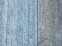De dessus vue vers le bas d'un champ d'hiver images stock