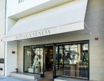 De Detailhandelbuitenkant van Bottegaveneta stock foto's