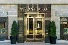 De Detailhandelbuitenkant van Tiffany & van het Bedrijf stock afbeelding