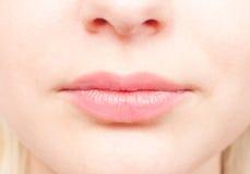 De details van de close-up van het gezicht van een vrouw Royalty-vrije Stock Afbeeldingen