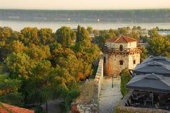 De details van de de vestingsarchitectuur van Belgrado Stock Afbeeldingen