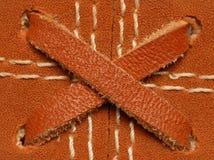 De details van de het honkbalhandschoen van het leer Royalty-vrije Stock Afbeeldingen