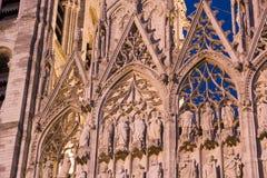 De details van de kathedraal, Rouen, Frankrijk. Stock Foto's