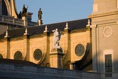 De Details van de Kathedraal van Almudena in Madrid Stock Foto
