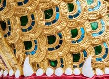 De details van de poort van de tempel Stock Fotografie