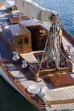 De details van de zeilboot Royalty-vrije Stock Afbeeldingen