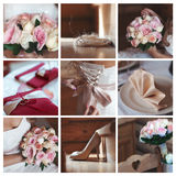 De details van het huwelijk collage stock foto
