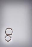 De details van het huwelijk - ringen royalty-vrije stock afbeelding